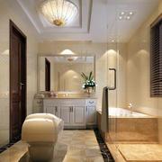 美式风格卫生间整体设计