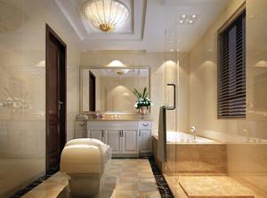 美式风格别墅型精致卫生间隔断装修效果图赏析