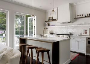 现代别墅厨房室内橱柜设计装修效果图