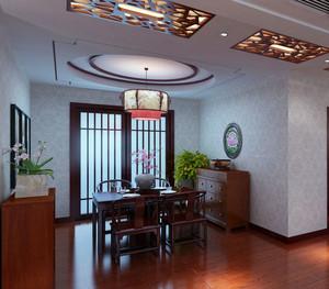 中式风格精致大户型餐厅装修效果图大全