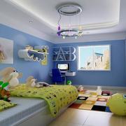 现代唯美的大户型精致儿童房装修效果图