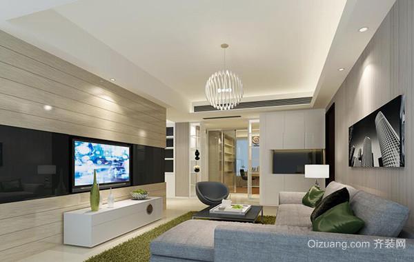 90平米别墅客厅室内电视背景墙设计装修效果图