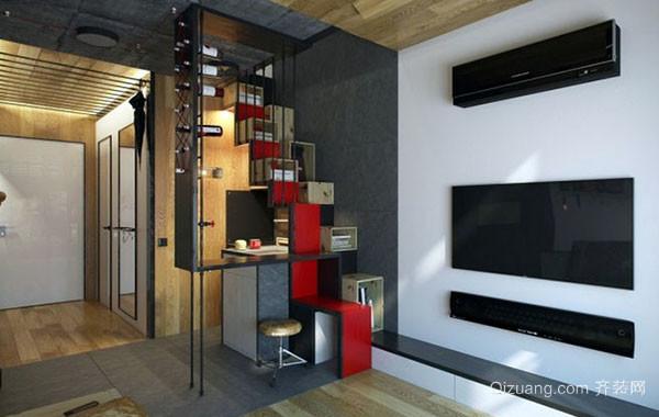 20平米都市精致时尚创意小公寓装修效果图赏析