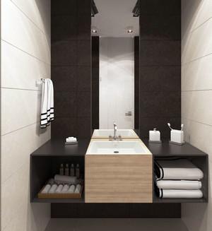80平米现代简约精致时尚创意公寓装修效果图