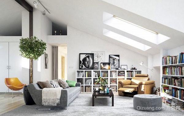 北欧风格白色主打简约时尚室内客厅装修效果图大全