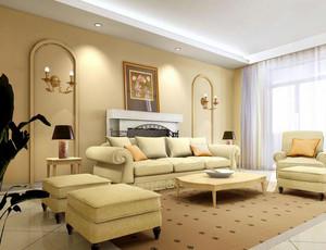 100平米别墅型欧式客厅室内设计装修效果图