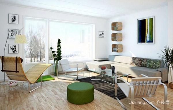 2016年全新款北欧风格简约时尚大户型客厅装修效果图赏析