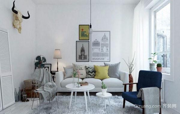 小户型北欧风格自然简约舒适客厅装修效果图