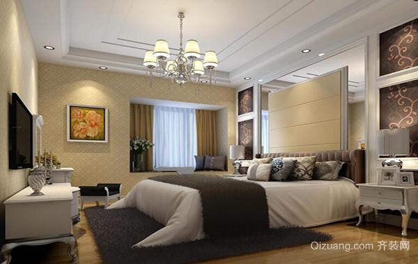 别墅欧式风格卧室背景墙装修效果图鉴赏