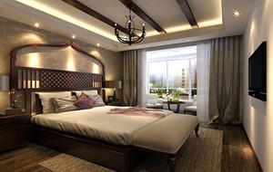 东南亚风格雅致精致卧室吊顶装修效果图大全