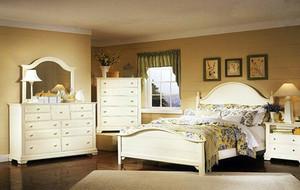 90平米别墅欧式卧室室内背景墙设计装修效果图