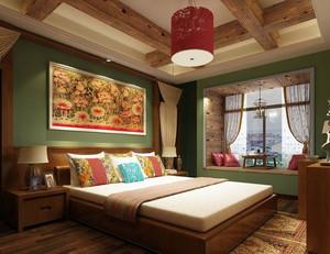 东南亚风格充满民族特色的卧室背景墙装修效果图
