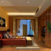东南亚风格卧室背景墙