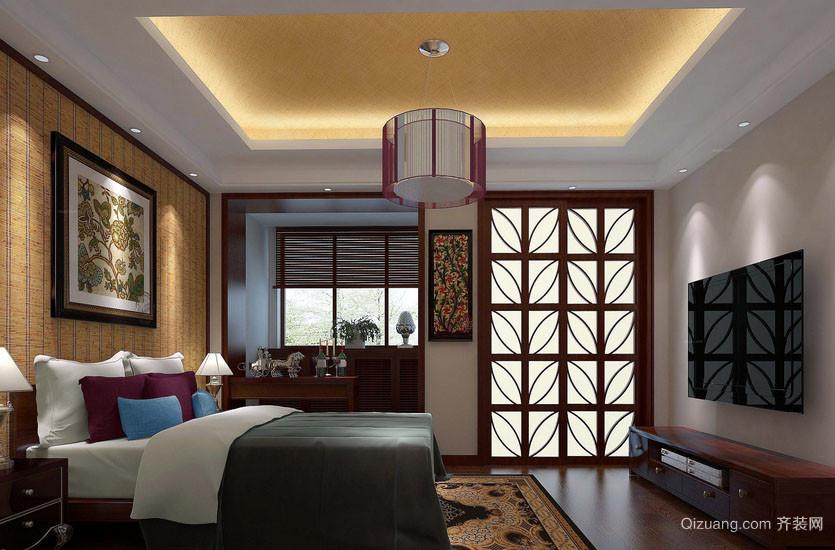 简约时尚东南亚风格卧室装修效果图