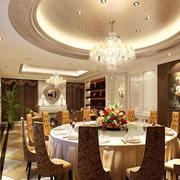 2016精致欧式大户型餐厅吊顶装修效果图实例