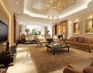 100平米别墅欧式客厅设计装修效果图