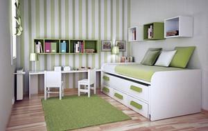 15平米现代简约风格时尚创意儿童房装修效果图
