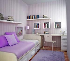 小清新可爱紫色梦幻儿童房装修效果图