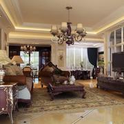 2016欧式大户型客厅室内设计装修效果图鉴赏