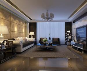 90平米别墅客厅室内设计装修效果图鉴赏