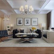 70平米现代简约风格室内客厅设计装修效果图
