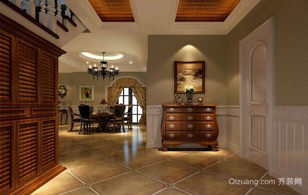 现代美式风格精致室内玄关设计装修效果图