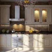 2016精致欧式大户型厨房橱柜设计装修效果图