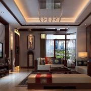 2016别墅中式客厅客厅装修效果图实例