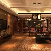 别墅型中式客厅吊顶装修效果图鉴赏