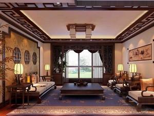 100平米现代中式客厅设计装修效果图欣赏