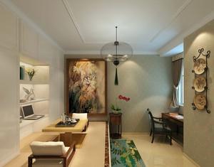 8平米现代中式风格精致时尚榻榻米装修效果图
