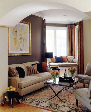 80平米现代温馨小家客厅飘窗装修效果图
