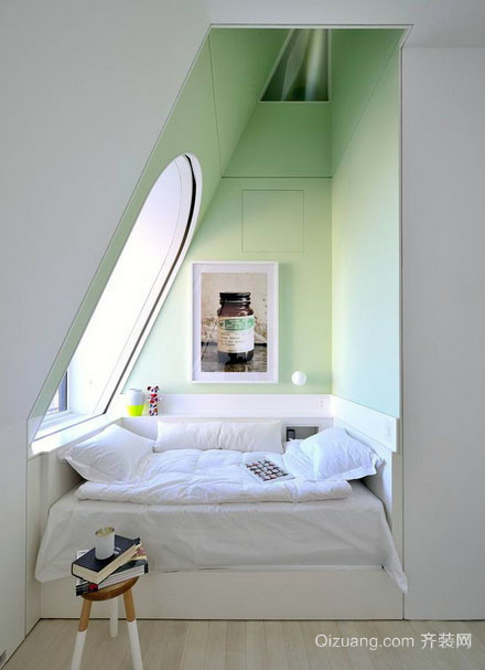 北欧风格简约自然舒适阁楼飘窗装修效果图