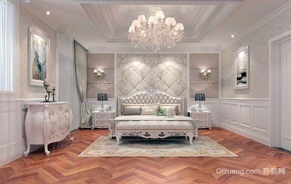 2016年新款欧式风格精致典雅别墅室内卧室装修效果图