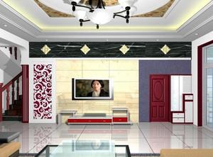 小户型精致的现代欧式客厅设计装修效果图