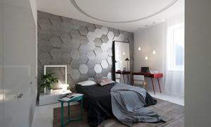 70平米灰色空间现代简约风格公寓装修效果图赏析