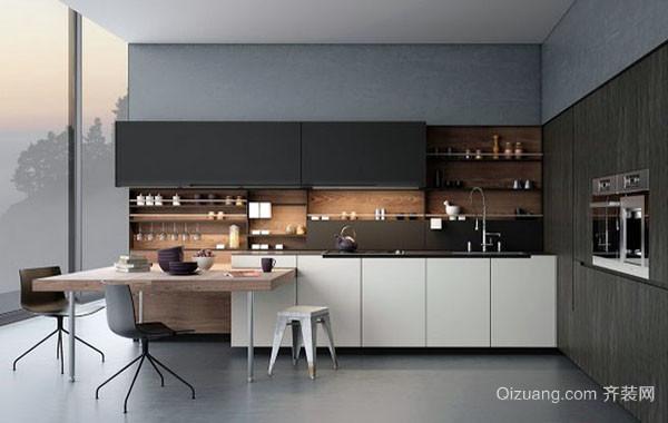 后现代风格简约时尚创意开放式厨房装修效果图