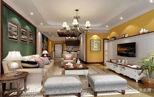 田园风格自然舒适大户型室内客厅装修效果图赏析