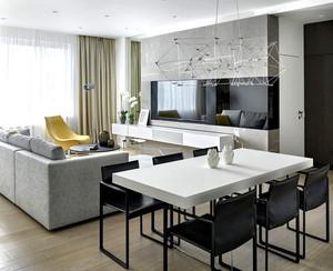 小户型简约时尚创意室内客厅装修效果图