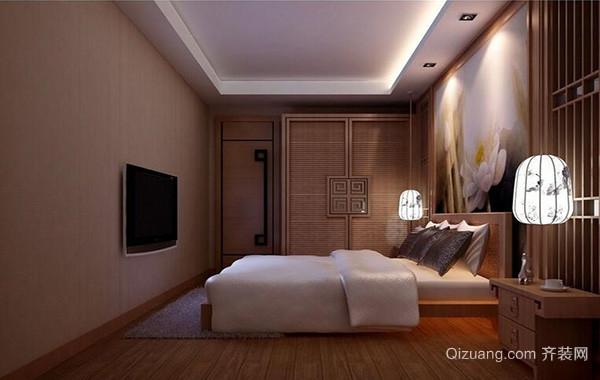 100平米别墅卧室背景墙设计装修效果图欣赏
