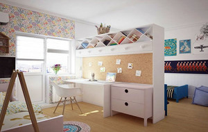 小清新都市简约时尚风格儿童房装修效果图赏析