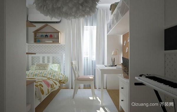 现代简约风格自然舒适创意儿童房装修效果图实例