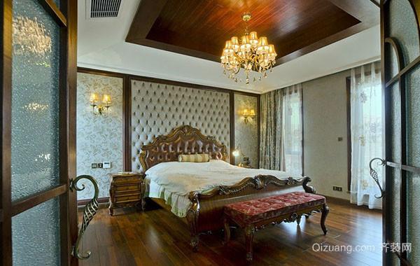古典美式风格大户型卧室吊顶装修效果图