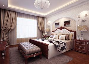 美式风格精致大户型卧室背景墙装修效果图赏析