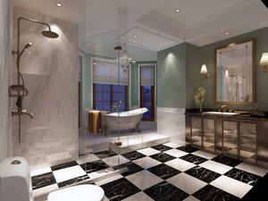 美式风格别墅卫生间装修效果图赏析