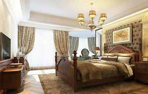 2016别墅欧式卧室背景墙设计装修效果图欣赏