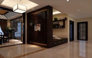 现代中式风格大户型稳重典雅进门玄关装修效果图