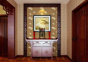 大户型现代中式风格精致时尚室内玄关装修效果图