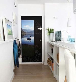 北欧风格自然朴素进门玄关装修效果图