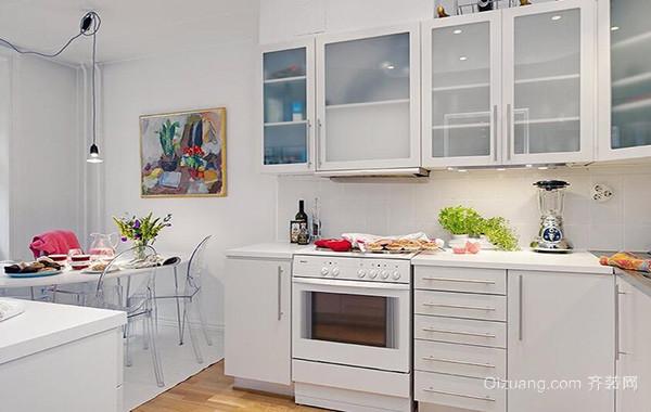 2016大户型欧式厨房橱柜设计装修效果图实例